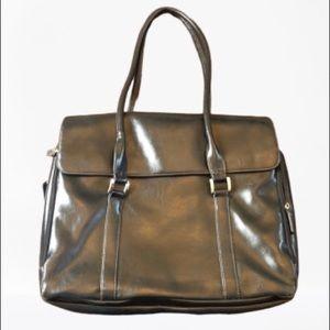Buxton Laptop Black Leather Briefcase